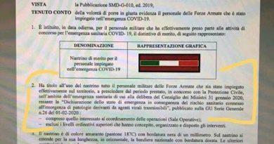 COVID-19 RICONOSCIMENTO NASTRINO PER FORZE ARMATE E DI POLIZIA